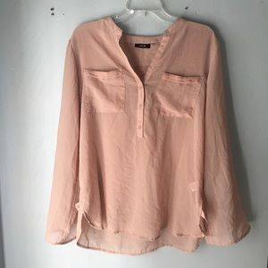 Tops - Sheer Blush colored blouse